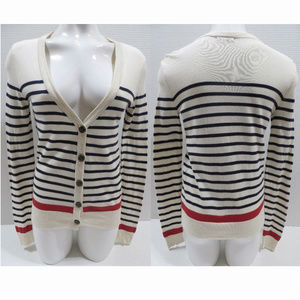 BDG sweater Small Classic Striped Cardigan button
